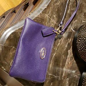 Purple Coach Wristlet